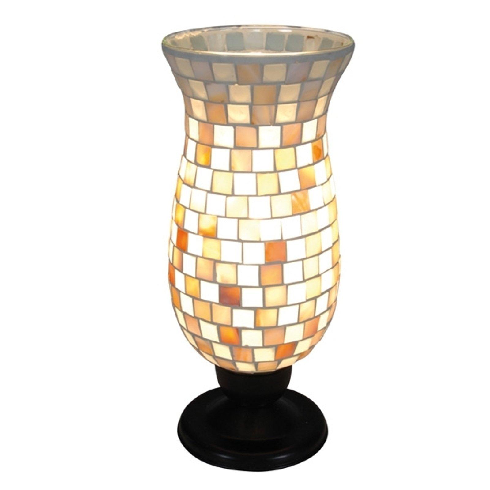 Yara bordlampe med mosaikkskjerm