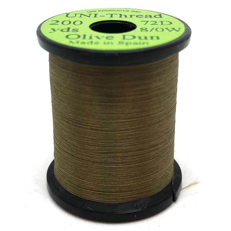 UNI bindetråd 8/0 - Olive Dun 200y