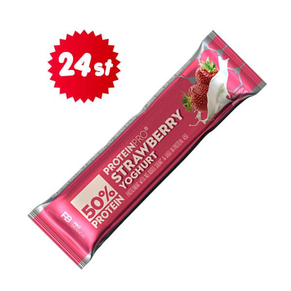ProteinPro Bar Straw/Yoghurt 45g x 24 st