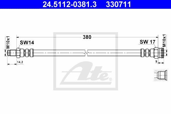 Jarruletku ATE 24.5112-0381.3