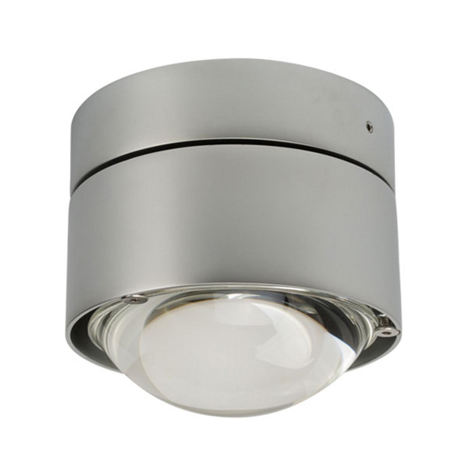 LED-ulkoseinälamppu Puk Outdoor Plus, matta kromi