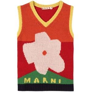 Marni Wool Knit Väst Röd 4 år