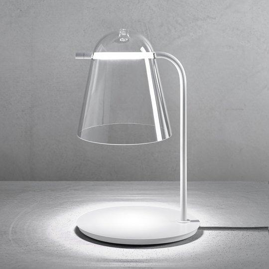 Prandina Sino T3 LED-bordlampe klar/matt hvit