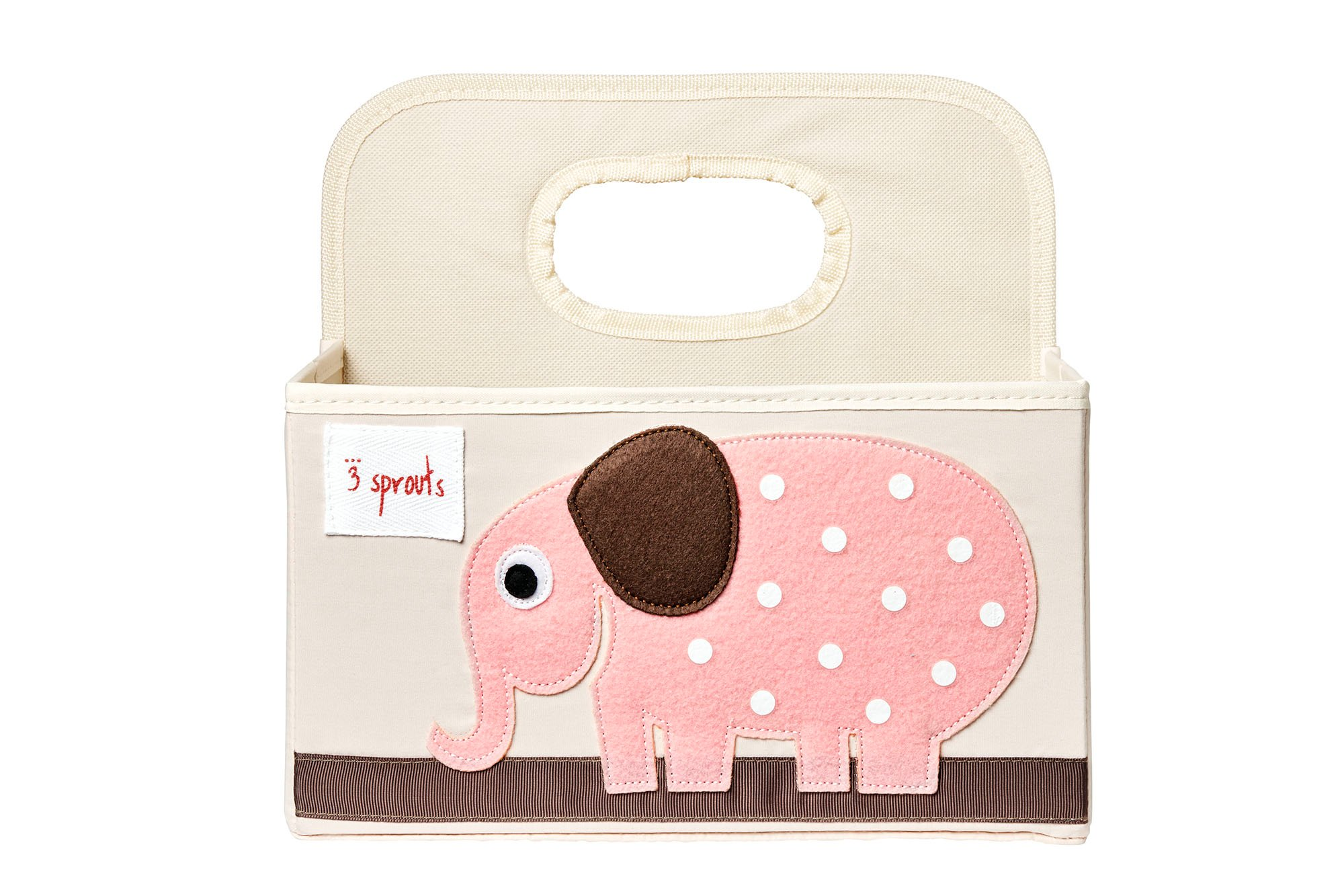 3 Sprouts - Diaper Caddy - Pink Elephant