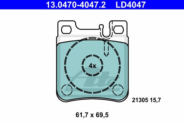 Jarrupalasarja, levyjarru ATE 13.0470-4047.2
