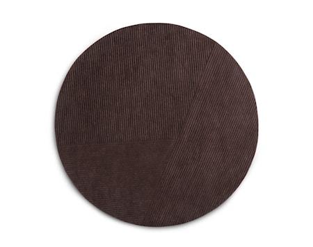 Row Matta Cirkulär Mörkbrun