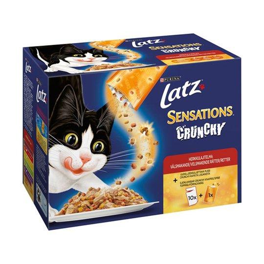 Latz Sensations Crunchy Kött i Gelé 12x100 g