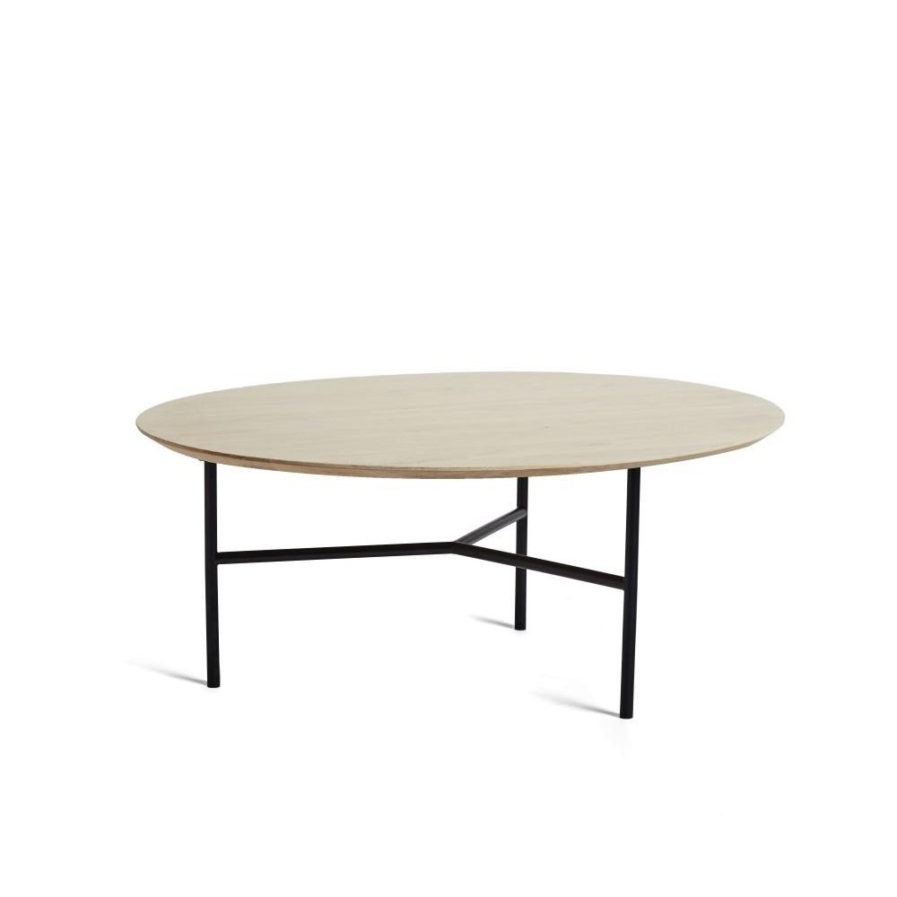 TRIBECA soffbord 80 cm såpad ek / svart, Mavis