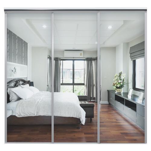 Mix Skyvedør Sølvspeil 2680 mm 3 dører