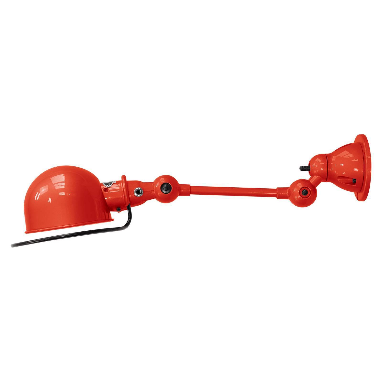 Jieldé Loft D2501 fleksibel vegglampe, rød
