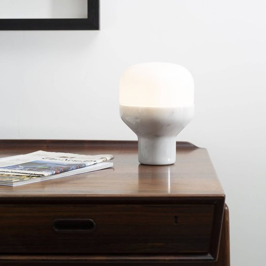 Martinelli Luce Delux bord, 43 cm marmor hvit