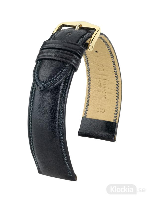 Hirsch Ascot 18mm Large Svart/Guld 01575050-1-18