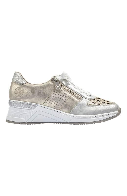 Rieker Sneakers i skinn Guld Silver