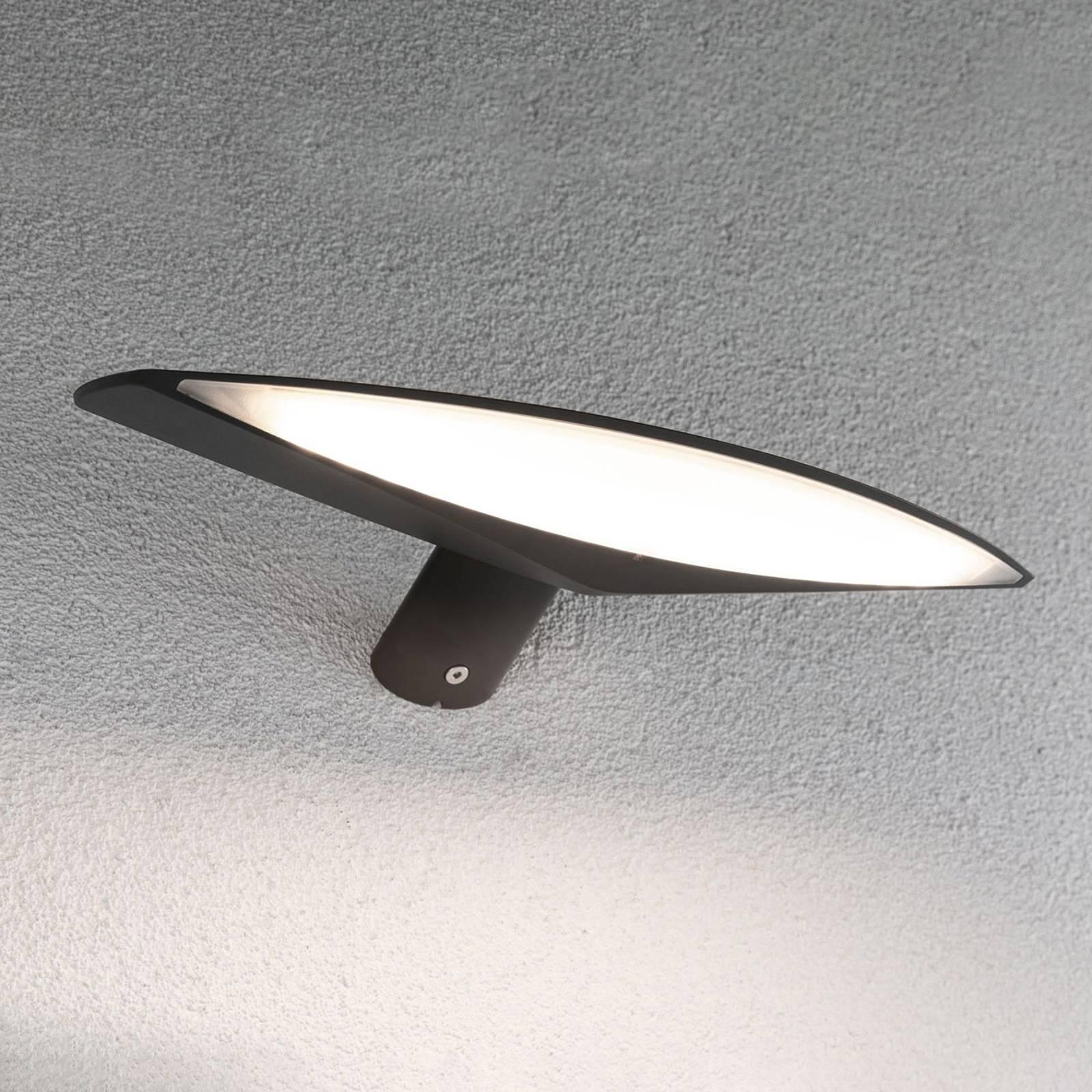 Paulmann Kiran -LED-aurinkovalo, 30 cm antrasiitti