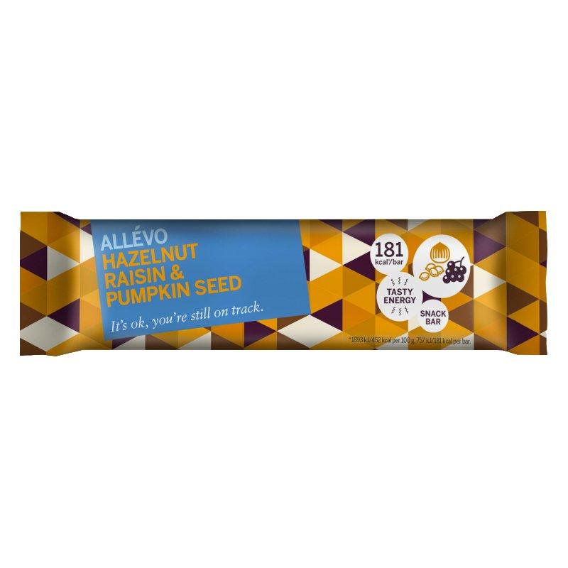 "Snackbar ""Hazelnut & Raisin"" 40g - 60% alennus"