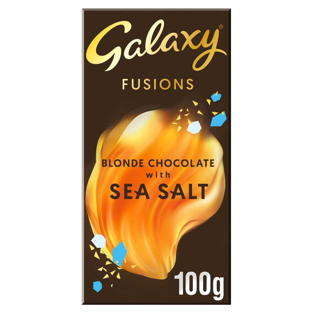 Galaxy Fusions Blonde Choc with Sea Salt 100g