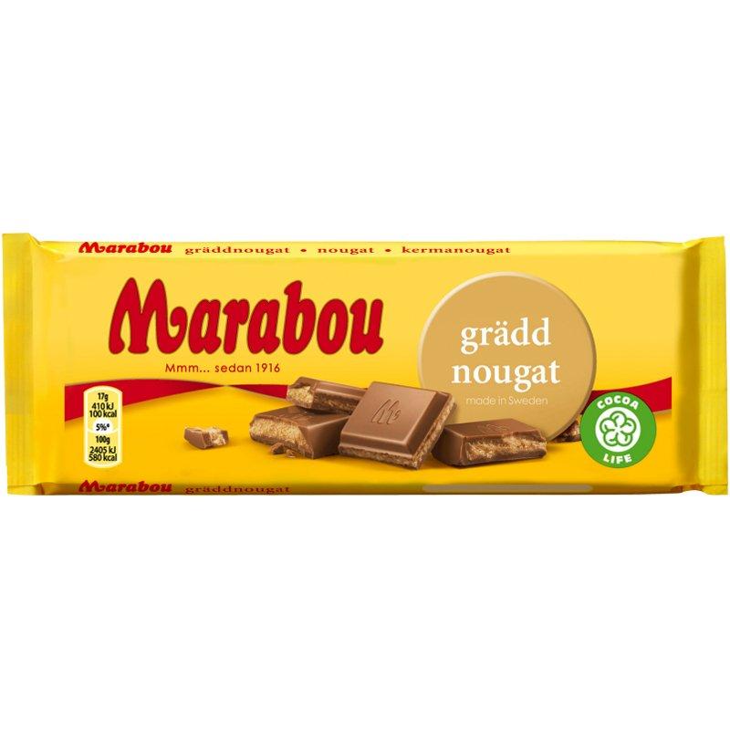 "Marabou Chokladkaka ""Gräddnougat"" 100g - 33% rabatt"