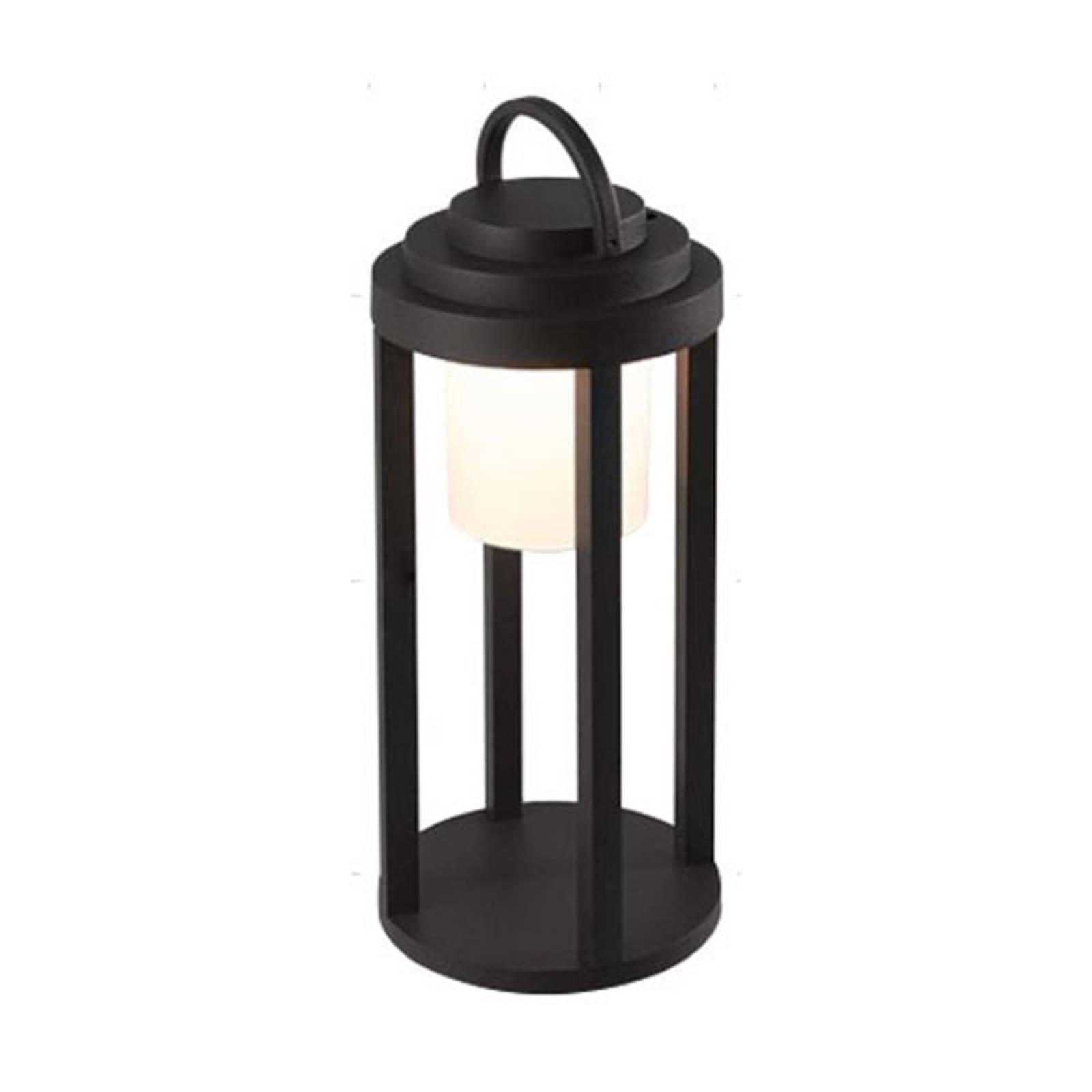LED-ulkovalaisin Kalimnos, musta, akku, 35 cm