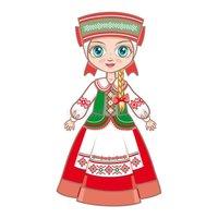 Раскраски Дети в традиционных костюмах