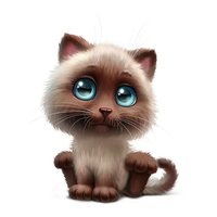 Раскраски Коты, кошки и котята
