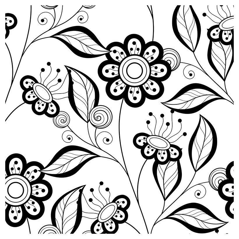 раскраска антистресс цветы и лепестки распечатать