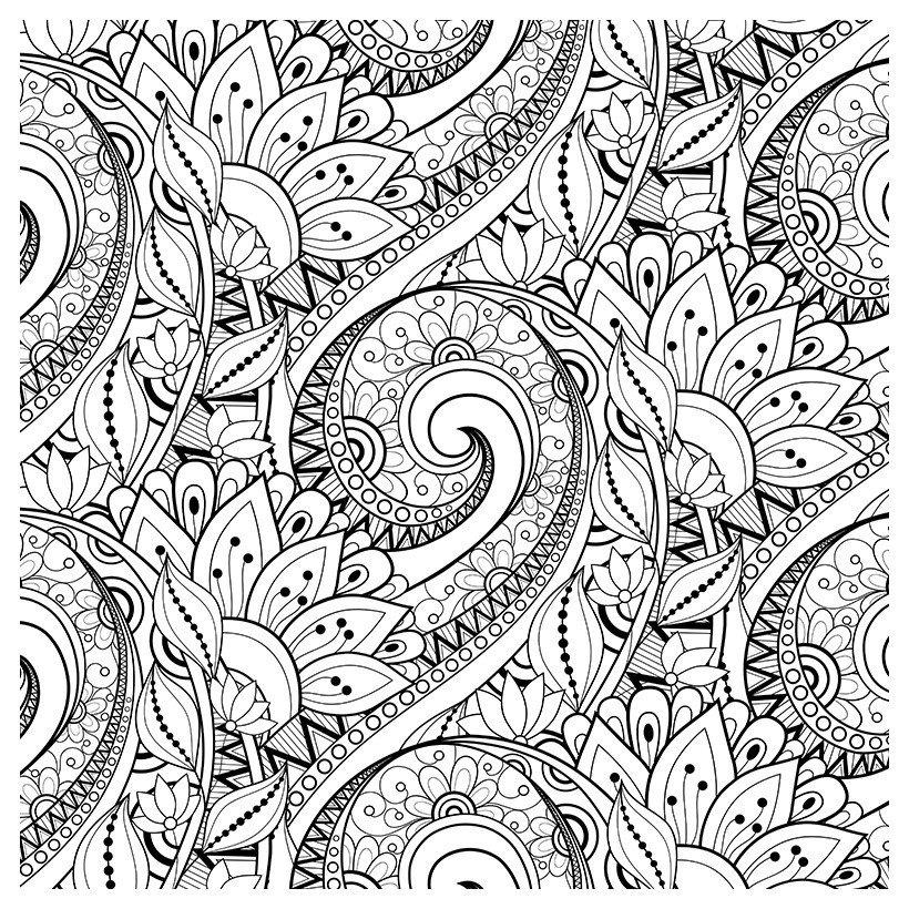 Раскраска Антистресс Цветы - распечатать бесплатно в ...