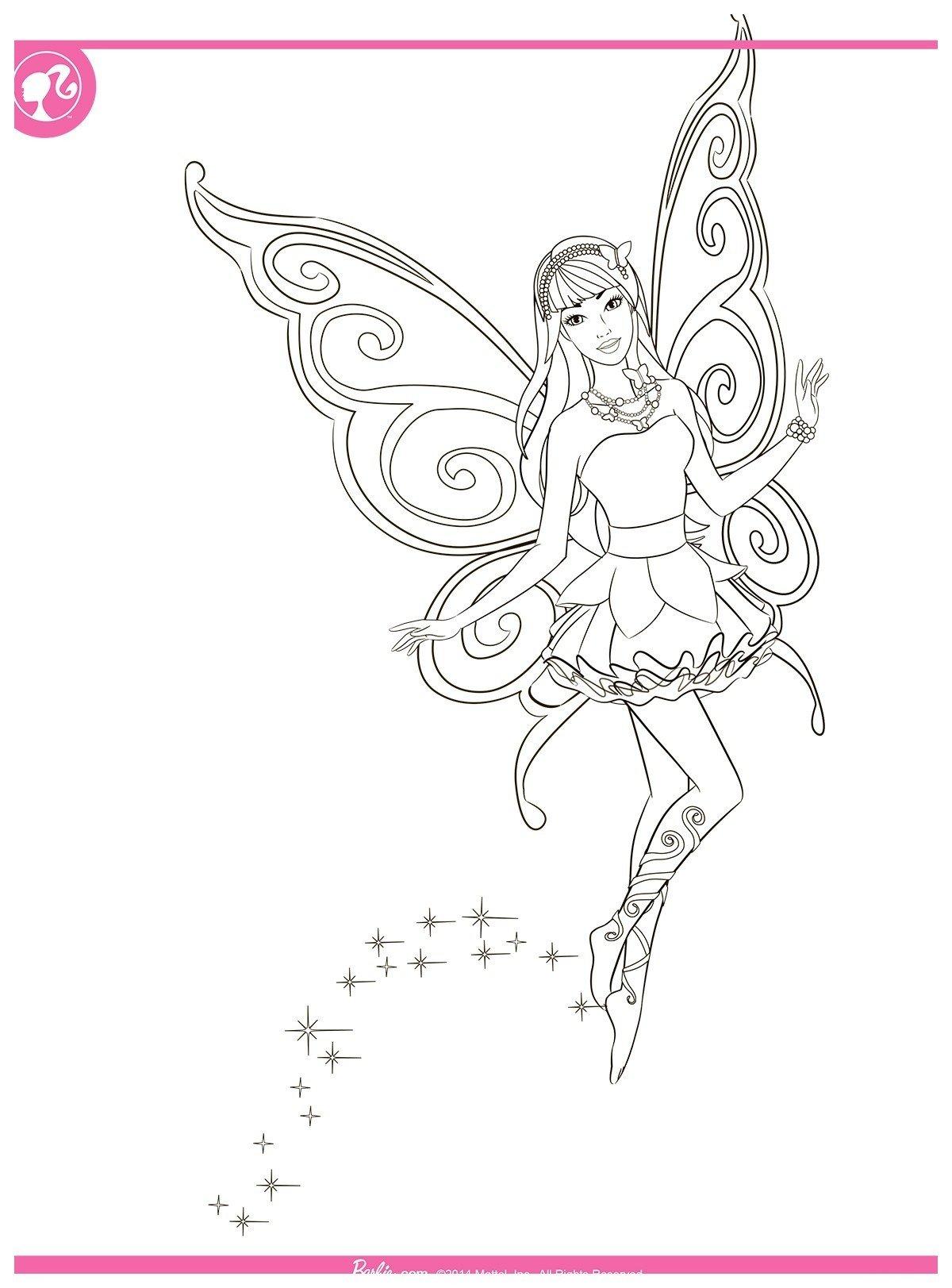 раскраска барби фея распечатать бесплатно в формате а4