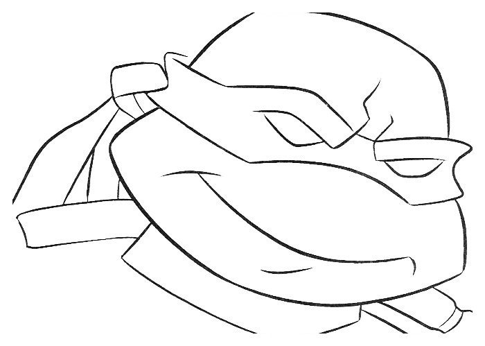 Раскраска Черепашка-Ниндзя усмехается