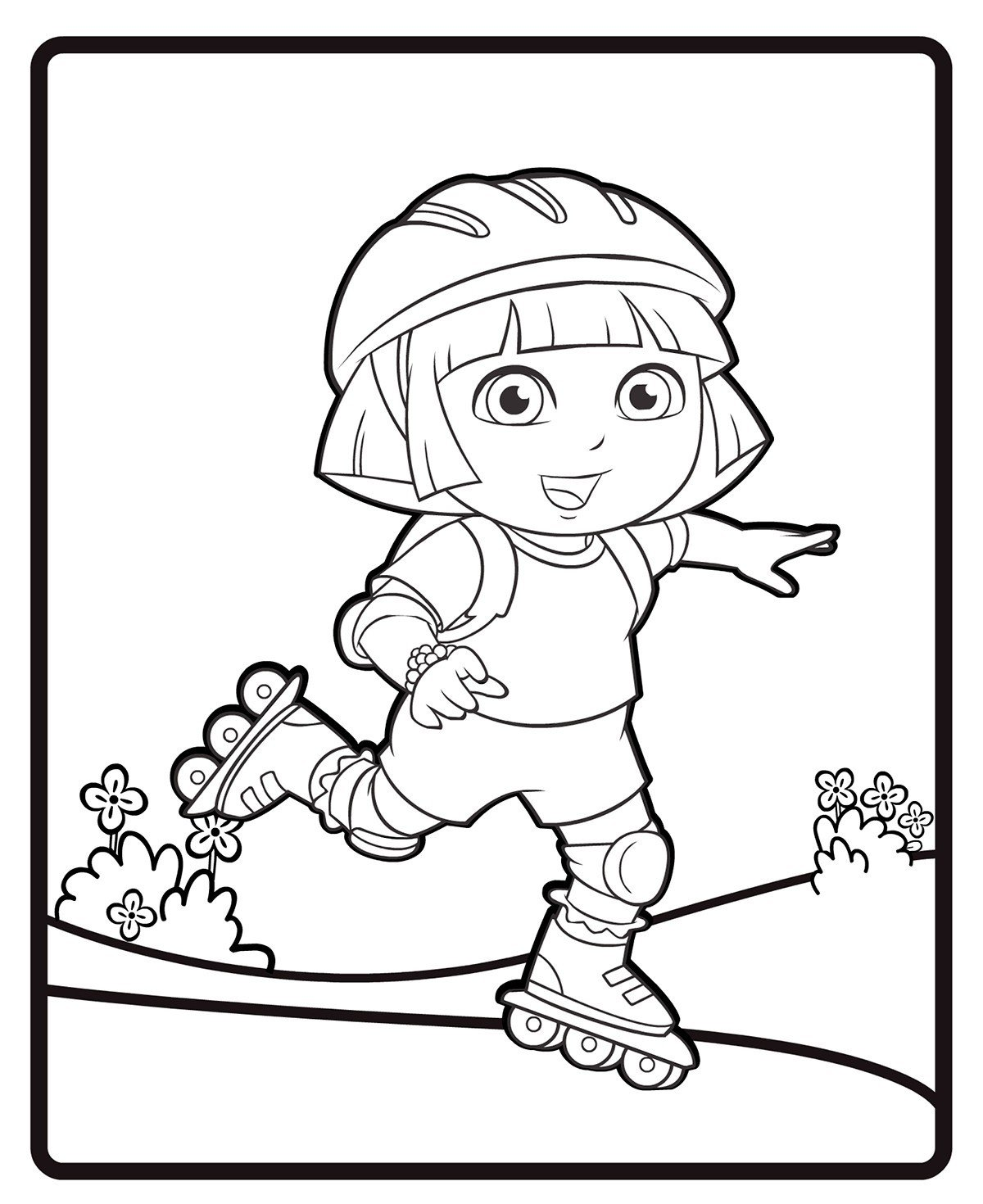 Раскраска Башмачок на скейте - распечатать бесплатно в ...