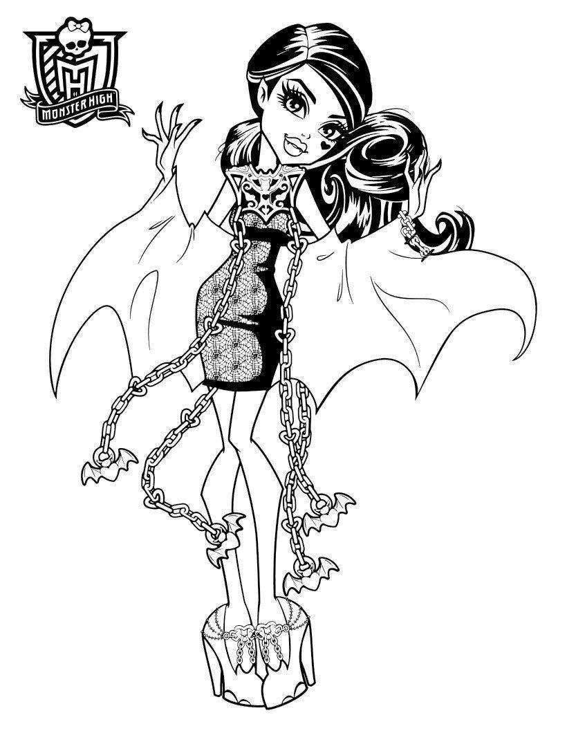 Раскраска Дракулаура «ШМ: призрачно»