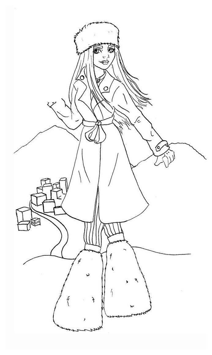 Раскраска Эбби Боминейбл — дочь Йети