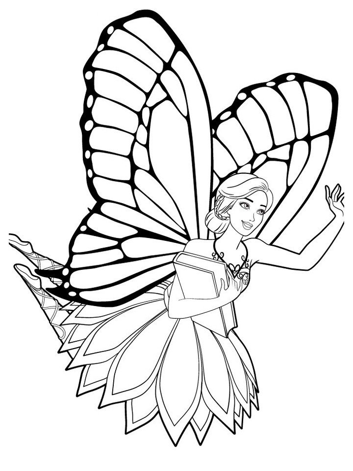 Раскраска Фея Барби