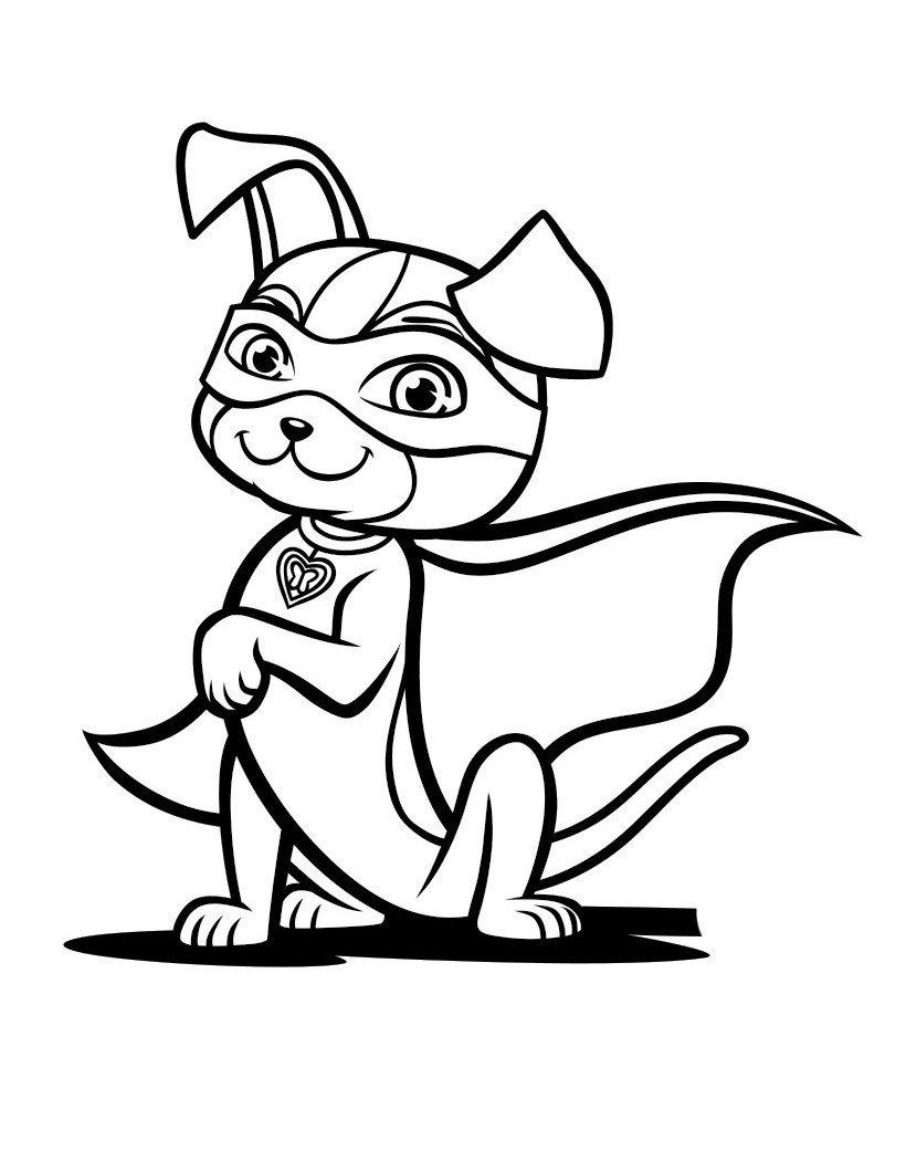 Раскраска Геройская собачка