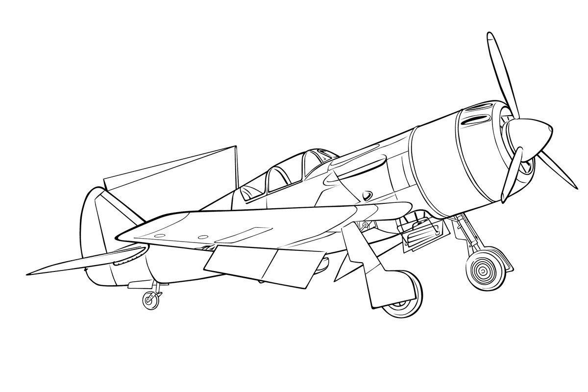 Раскраска Истребитель Ла-9