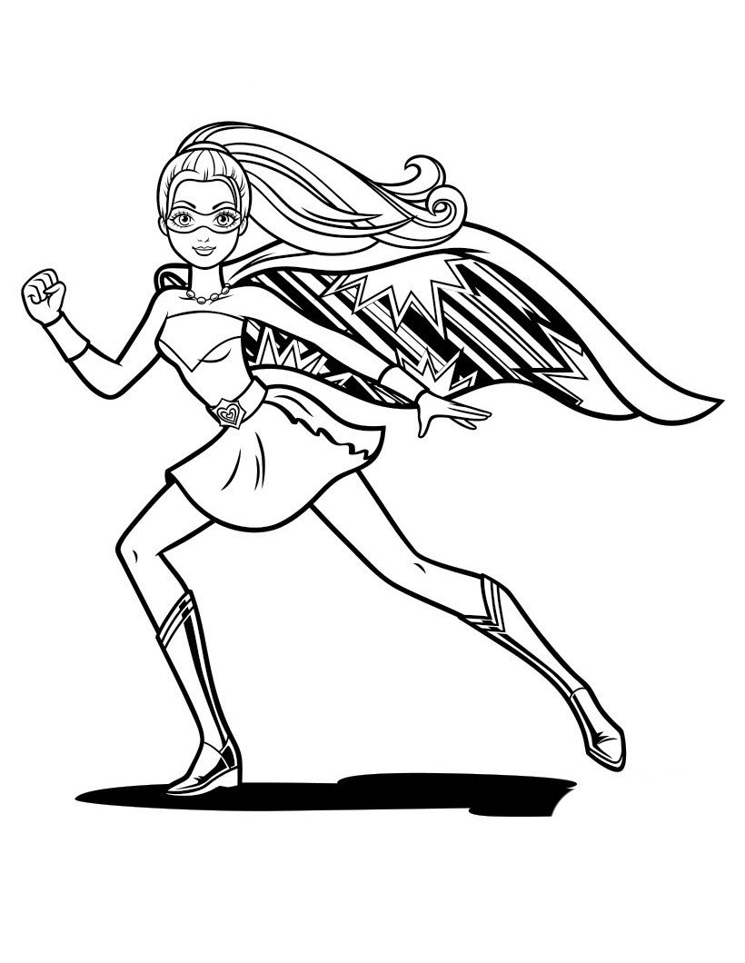 Раскраска Кара - супергероиня