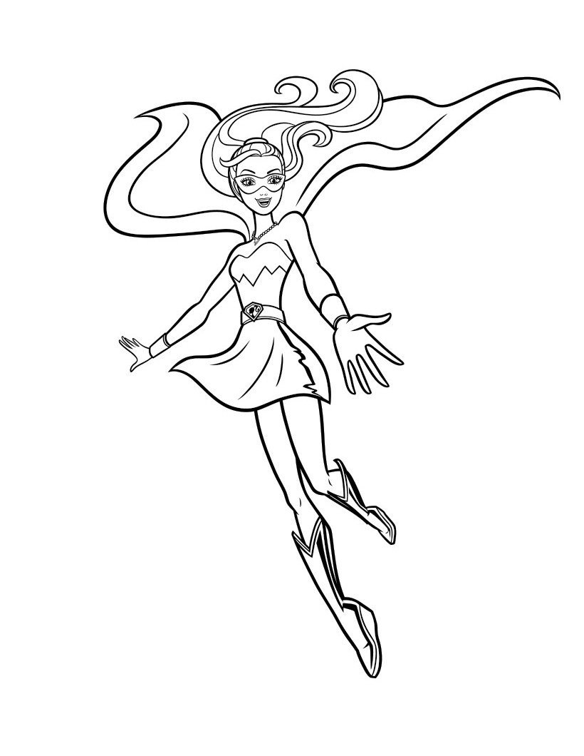 Раскраска Кара с супер силой