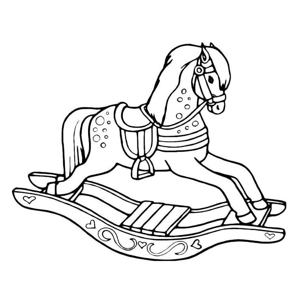Раскраска Лошадь за забором - распечатать бесплатно в ...