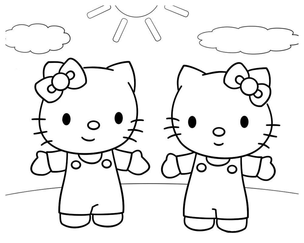 Раскраска Китти и Мимми
