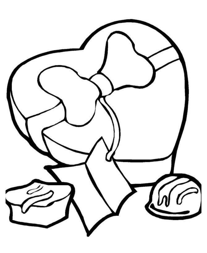 Раскраска Сердечко с бантиком - распечатать бесплатно в ...