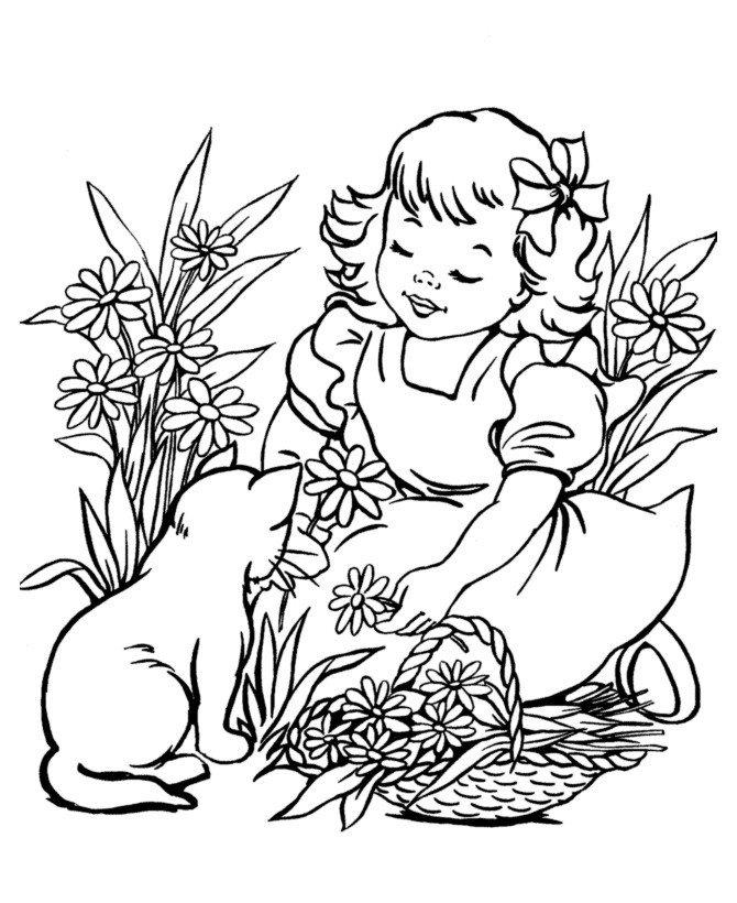 Раскраска Кошка и два котенка - распечатать бесплатно в ...