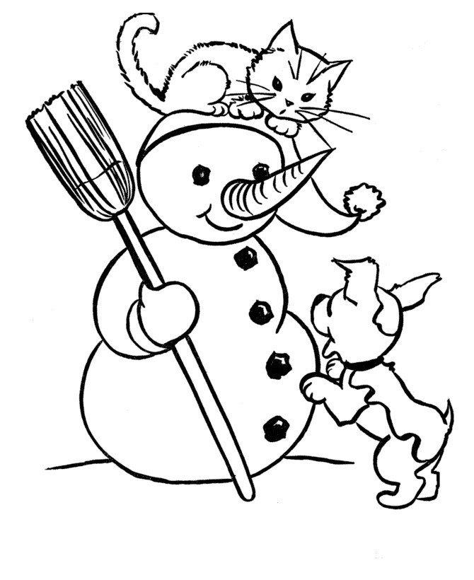 Раскраска Кошка с котенком - распечатать бесплатно в ...