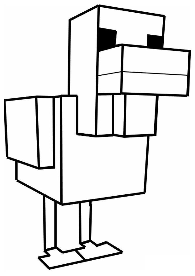 Раскраска Курица из Майнкрафт