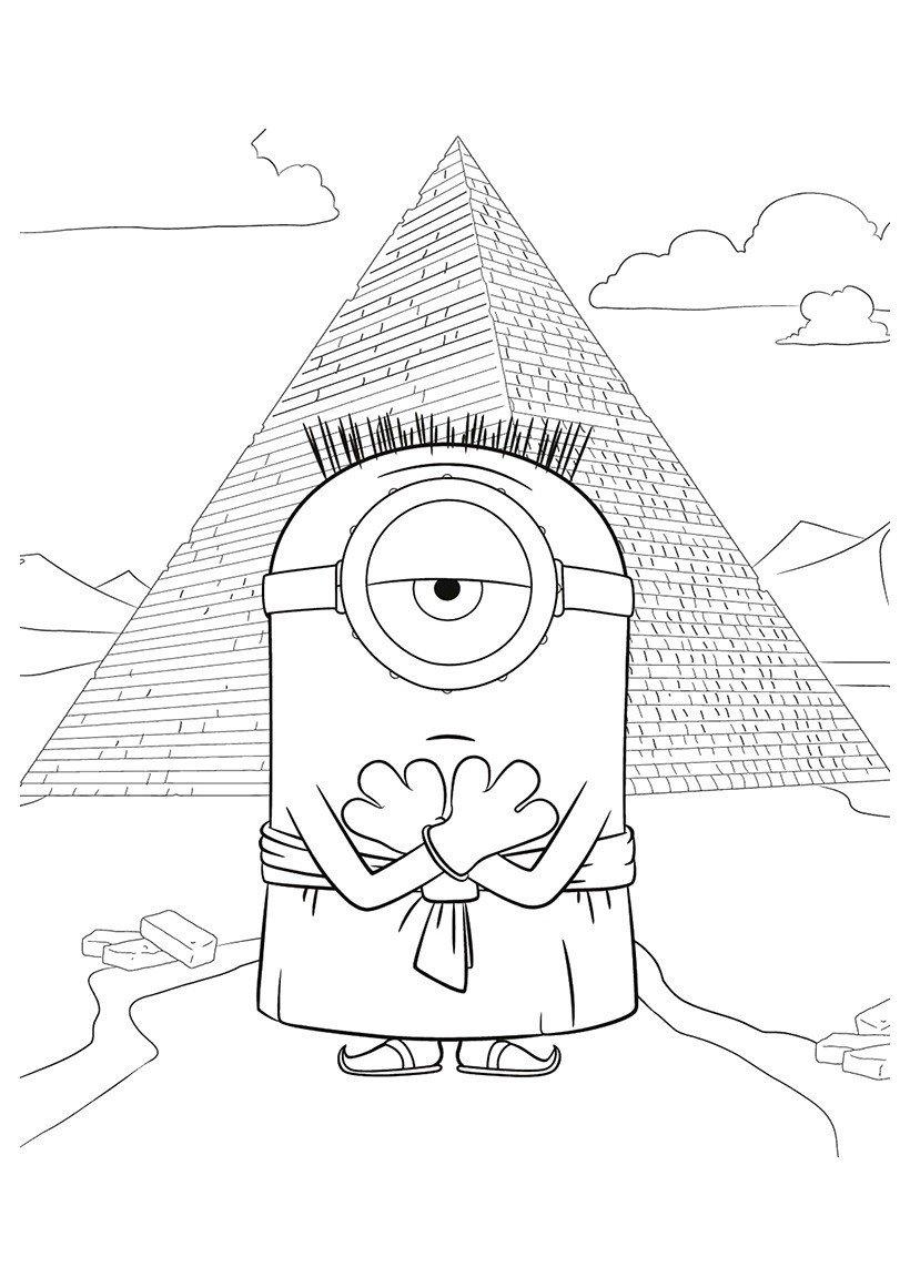 Раскраска Миньон эпохи фараонов