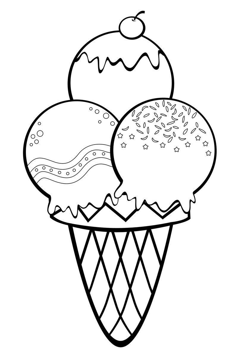 Раскраска Пирожное со свечкой - распечатать бесплатно в ...