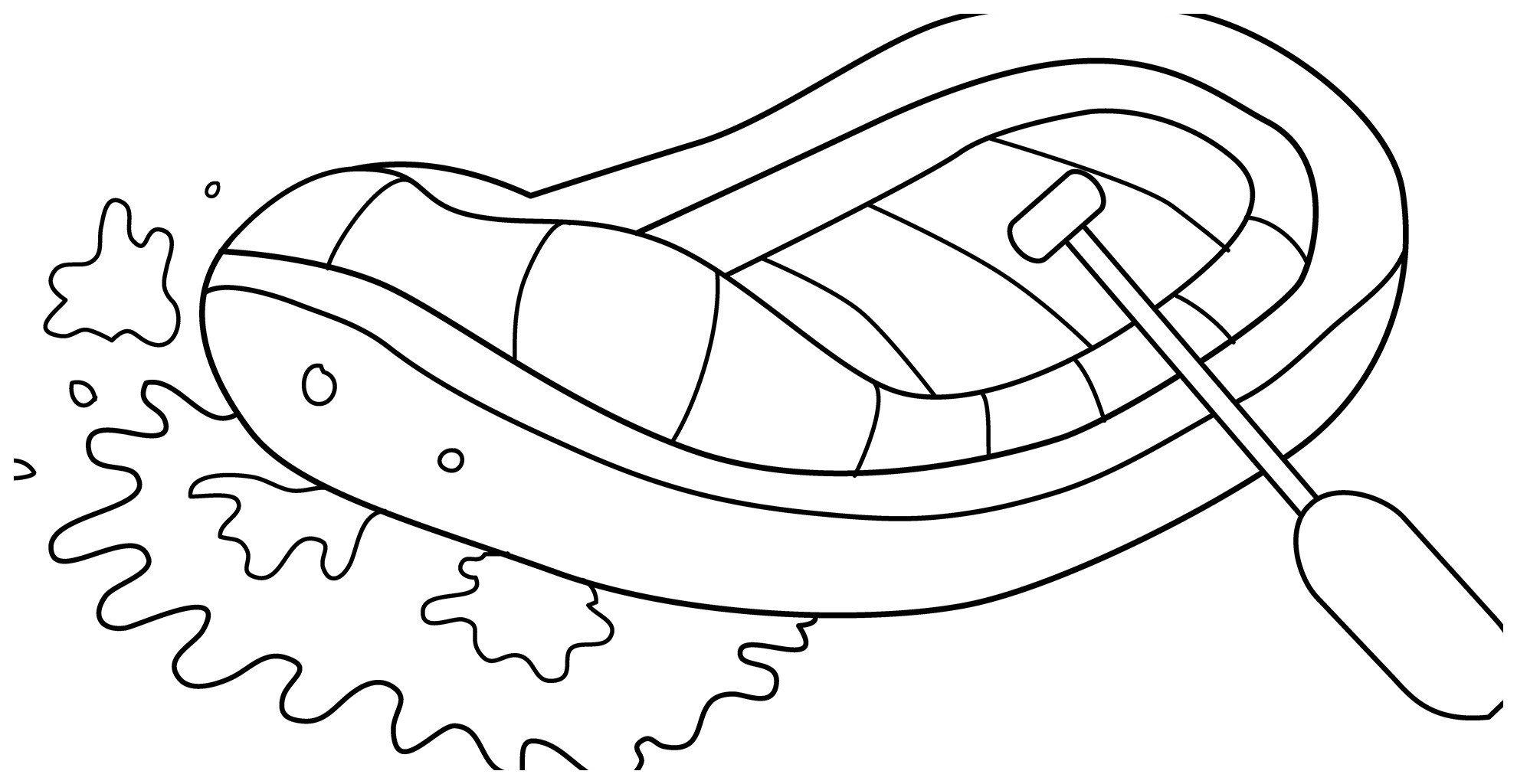Раскраска Надувная лодка