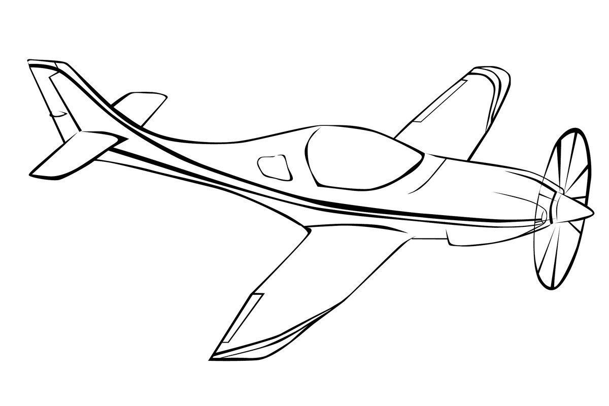 Раскраска Небольшой самолёт