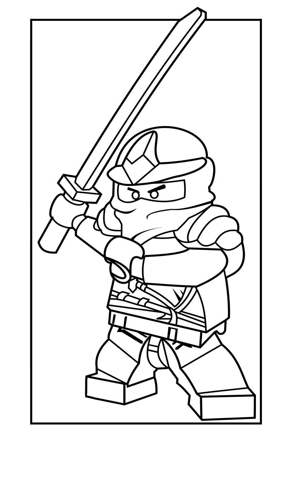 Раскраска Ninjago Zane ZX
