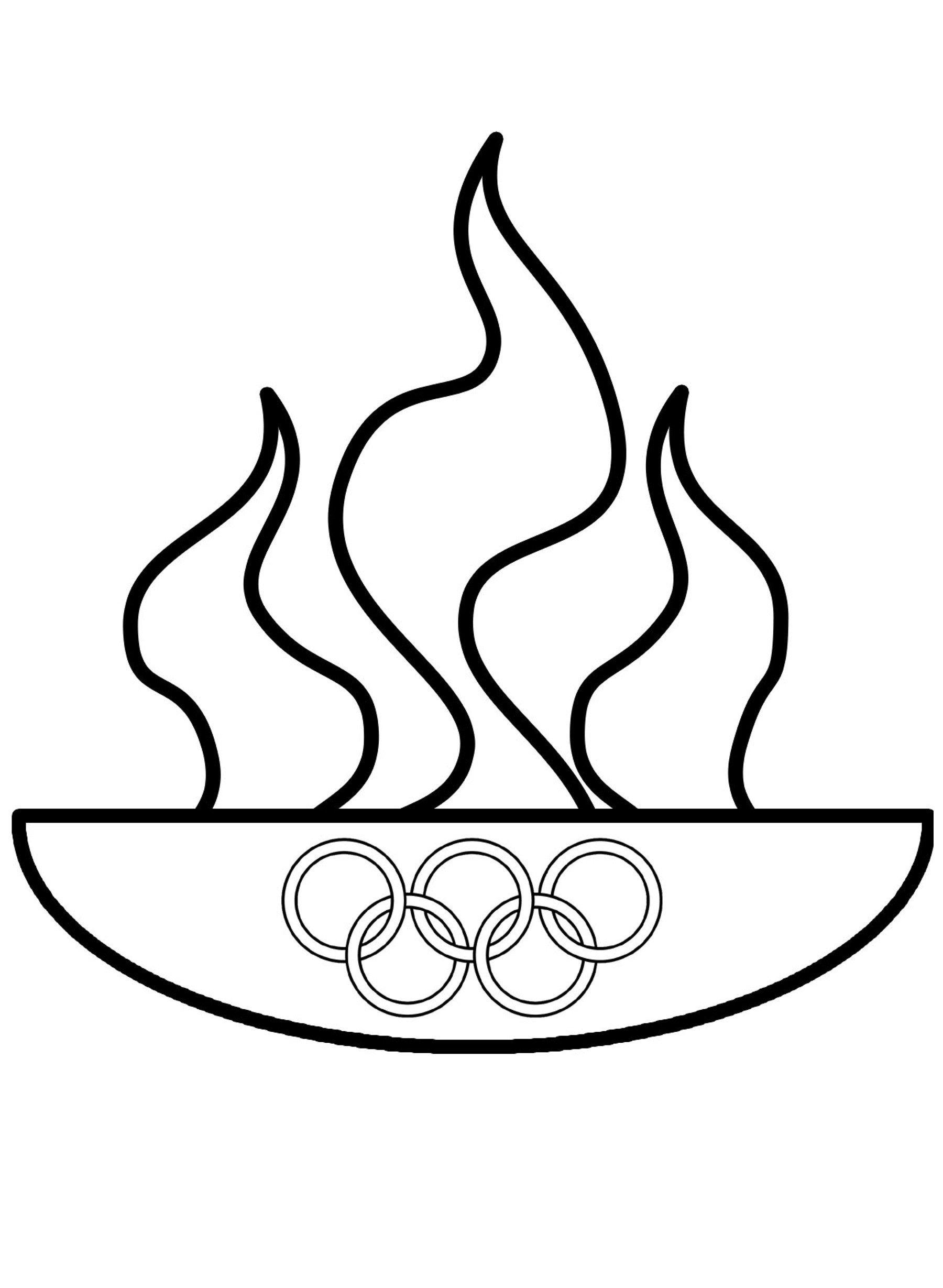 Раскраска олимпийские кольца - распечатать бесплатно в ...