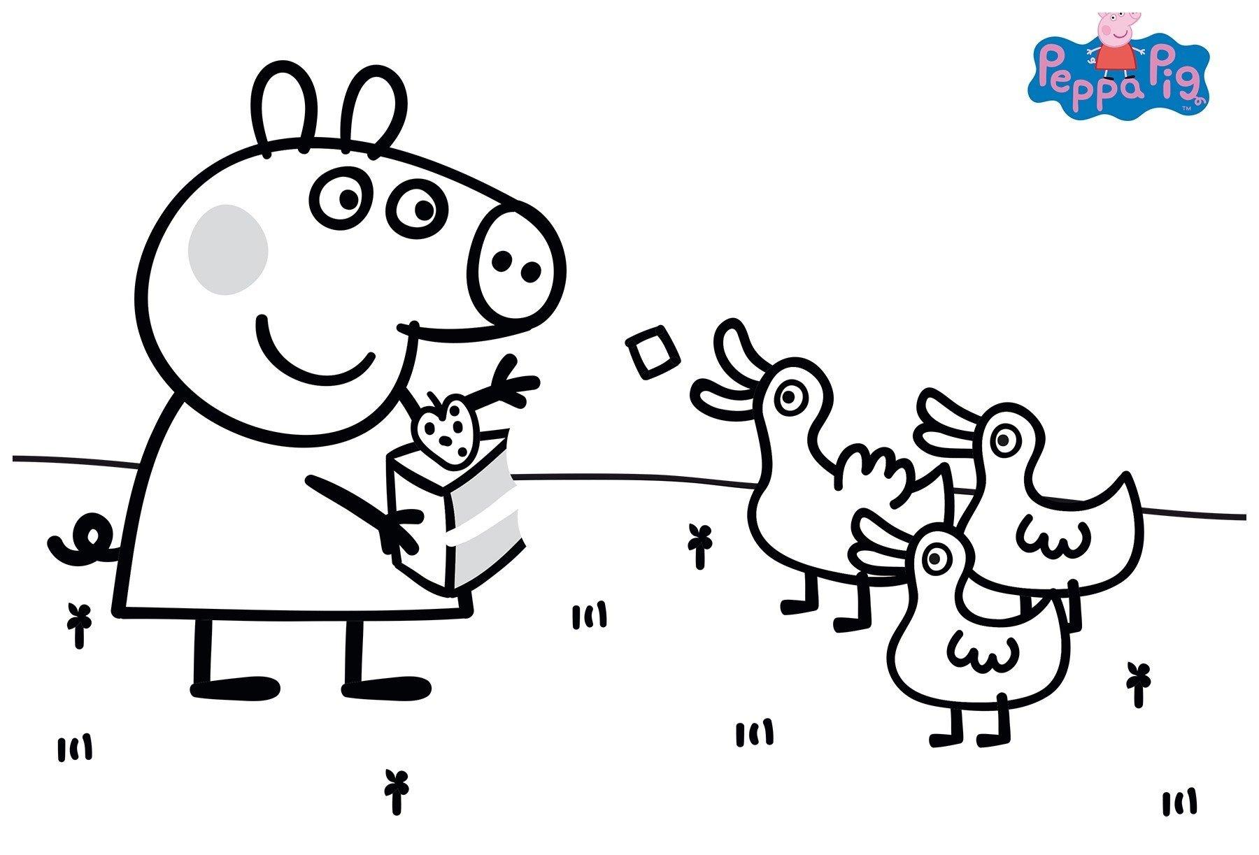 раскраски свинка пеппа распечатать бесплатно в формате а4