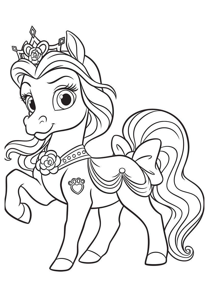 Раскраска Питомец Белль пони Невеличка